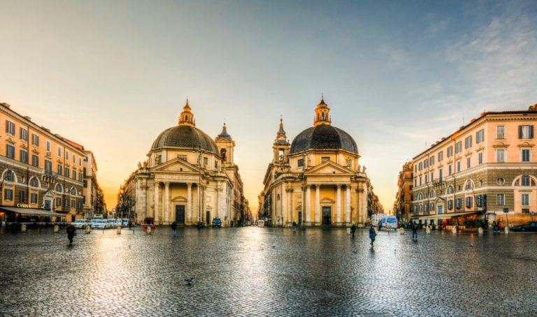 Rome Three Curiosities About The Twin Churches Of Piazza